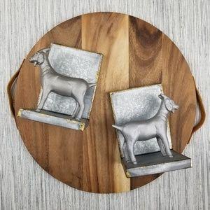 Hearth & Hand Target Metallic Goat Bookends